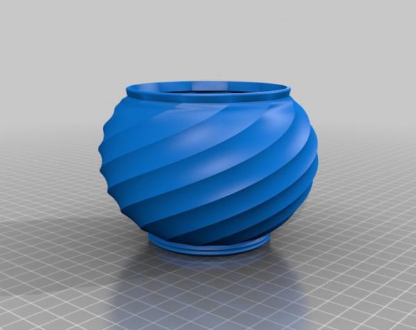 螺旋形瓮/缸 3D模型  图2