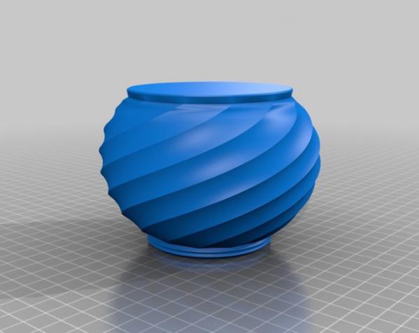 螺旋形瓮/缸 3D模型  图4