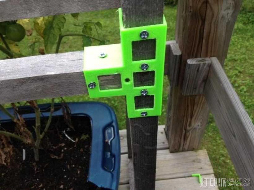 花园木桩支架 3D模型  图2