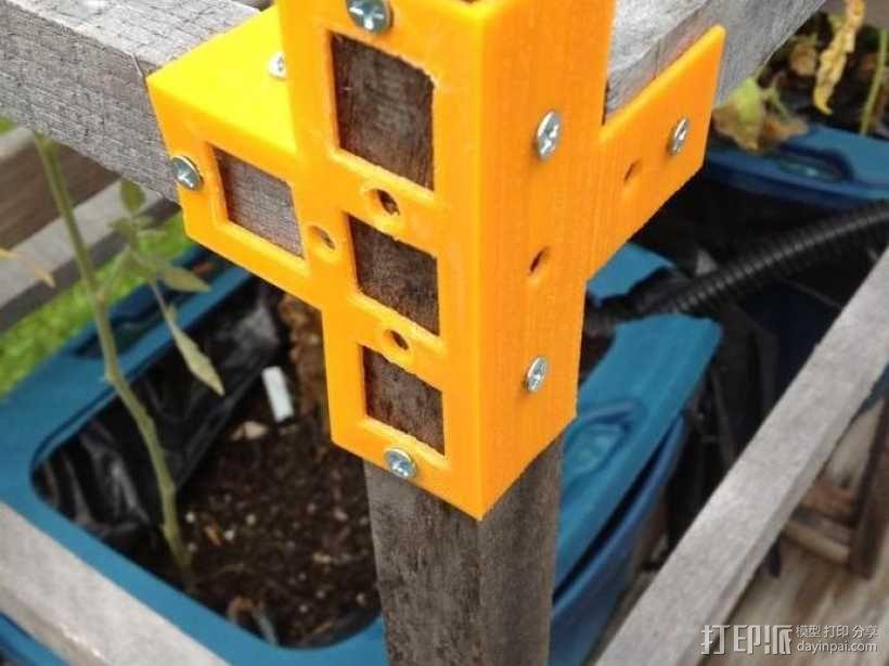 花园木桩支架 3D模型  图1