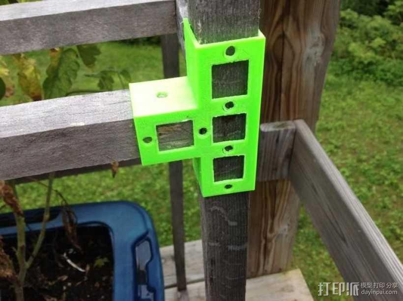 花园木桩支架 3D模型  图8