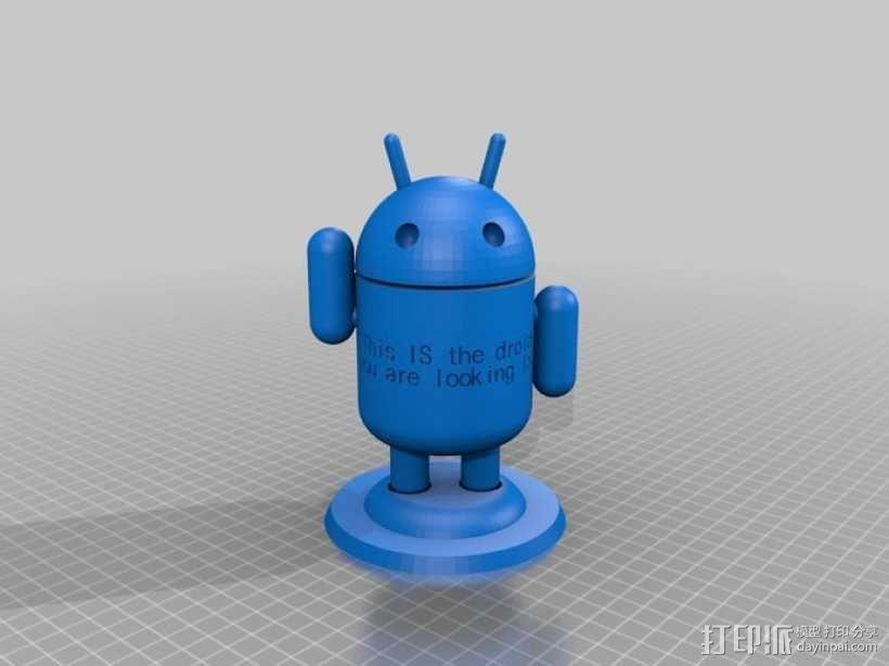 定制化安卓机器人 3D模型  图2
