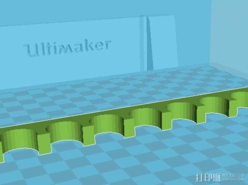 8孔白板笔支架 3D模型  图2