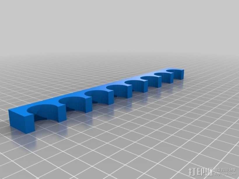 8孔白板笔支架 3D模型  图4