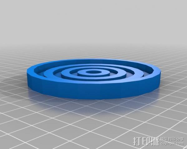 迷你漩涡形杯托 3D模型  图5