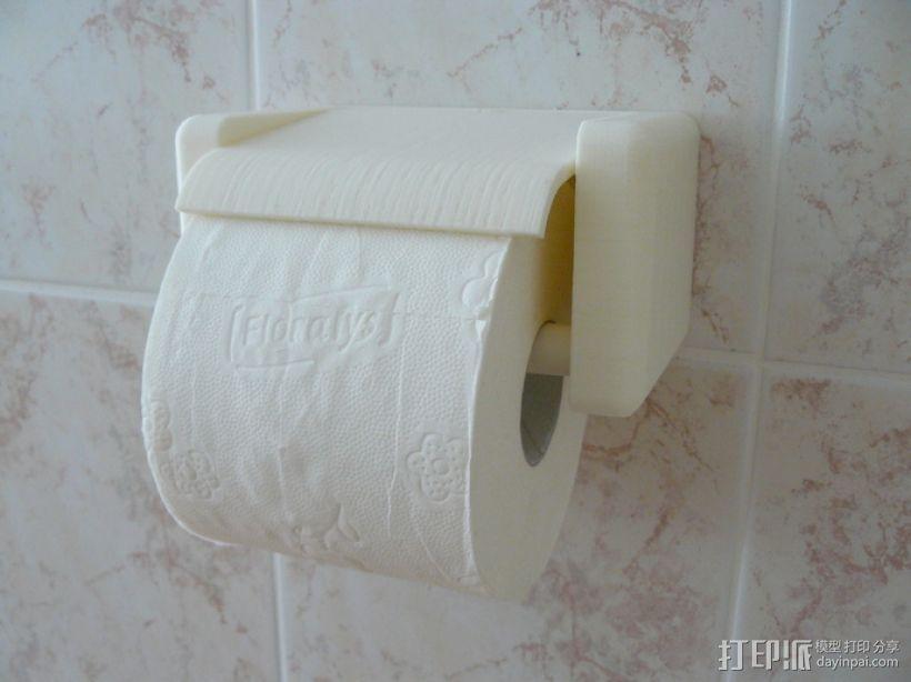 迷你厕纸架 3D模型  图1