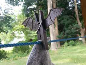 蝙蝠形晒衣夹 3D模型