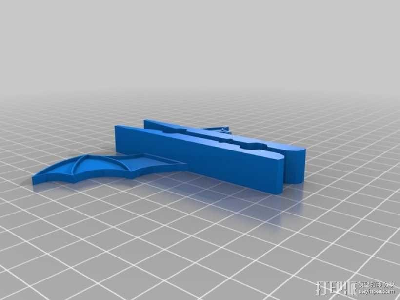 蝙蝠形晒衣夹 3D模型  图2