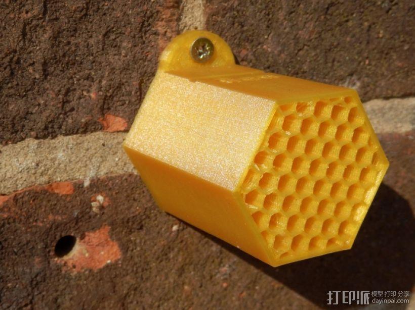 迷你单居蜂蜂房 3D模型  图4