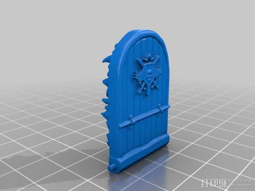 骷髅头城堡形鸟笼 3D模型  图2