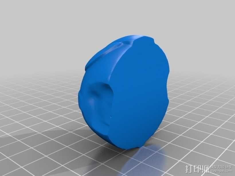 骷髅头城堡形鸟笼 3D模型  图6