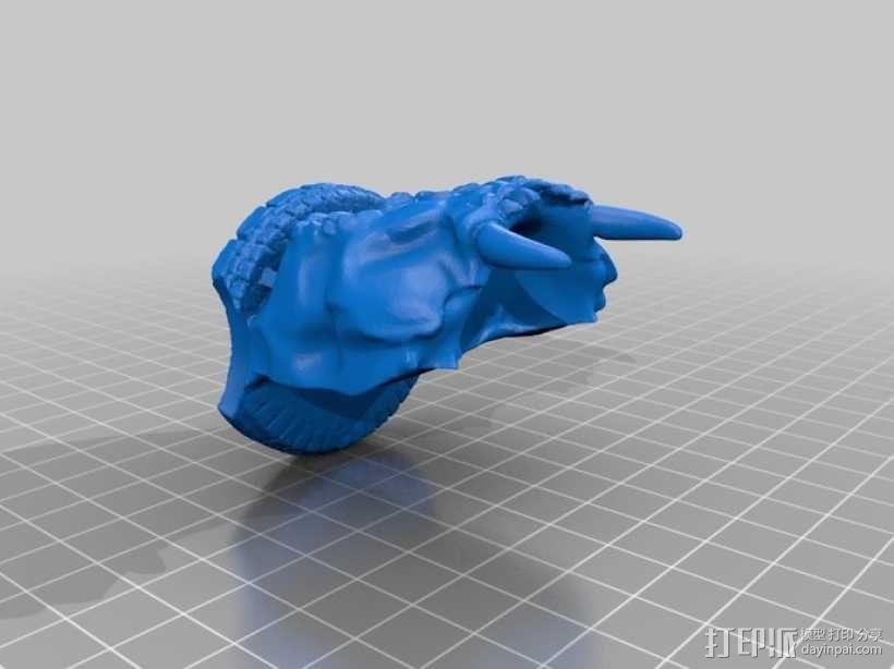 骷髅头城堡形鸟笼 3D模型  图9