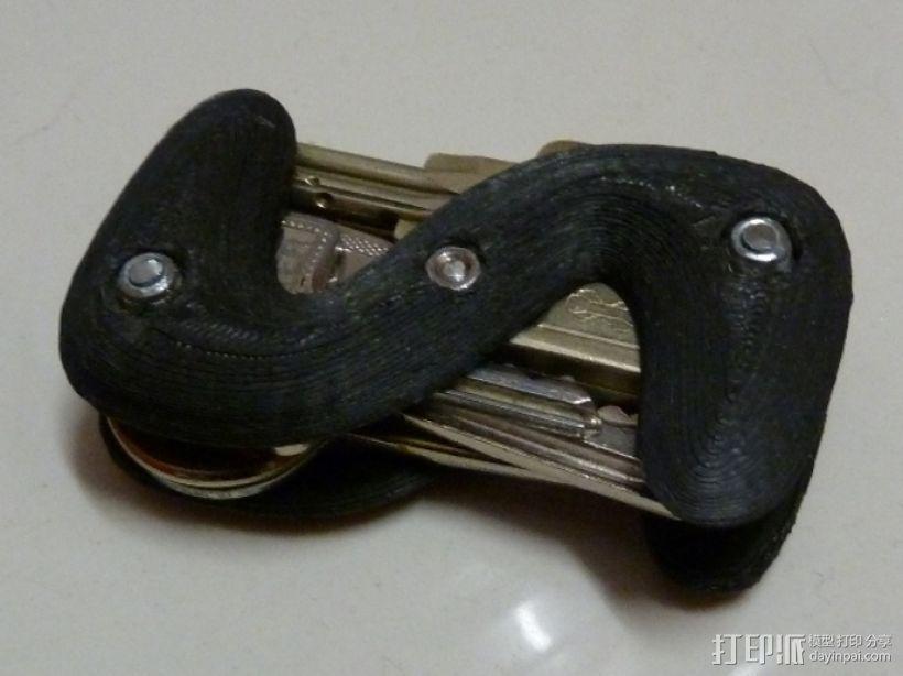 S形钥匙圈 3D模型  图1