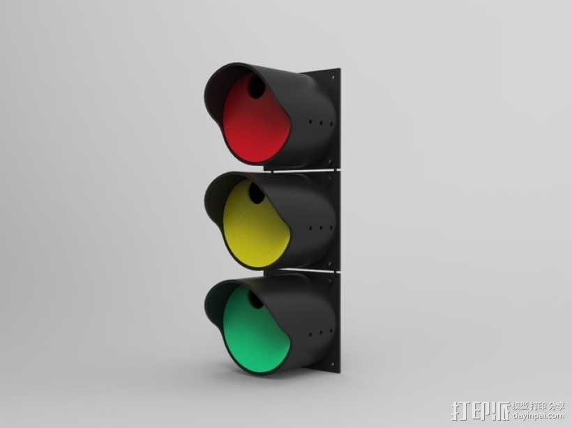 红绿灯形鸟笼 3D模型  图1