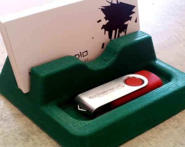桌面式便签盒/名片盒 3D模型  图1