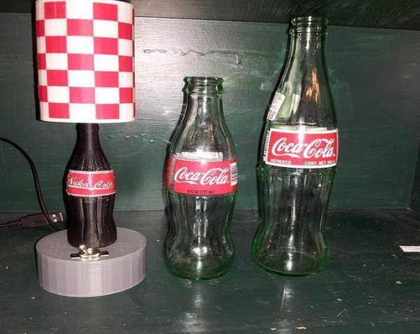 可口可乐瓶灯罩 3D模型  图5