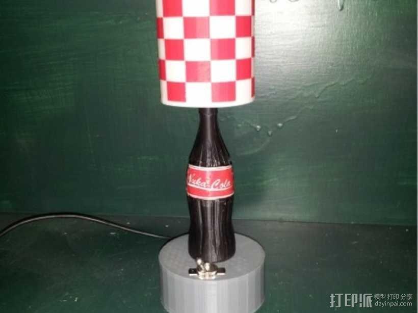 可口可乐瓶灯罩 3D模型  图1