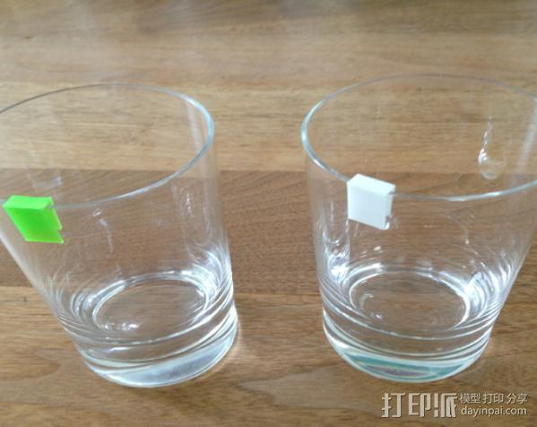 个性化水杯标签 3D模型  图2