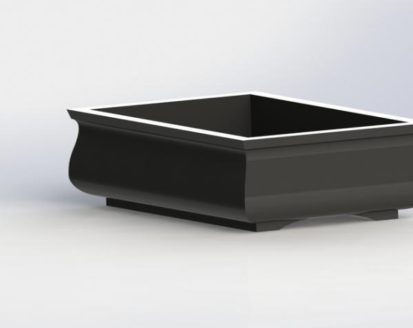 迷你盆栽盆 3D模型  图1