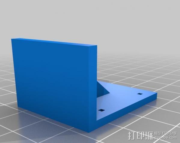 壁挂式扬声器架 3D模型  图2