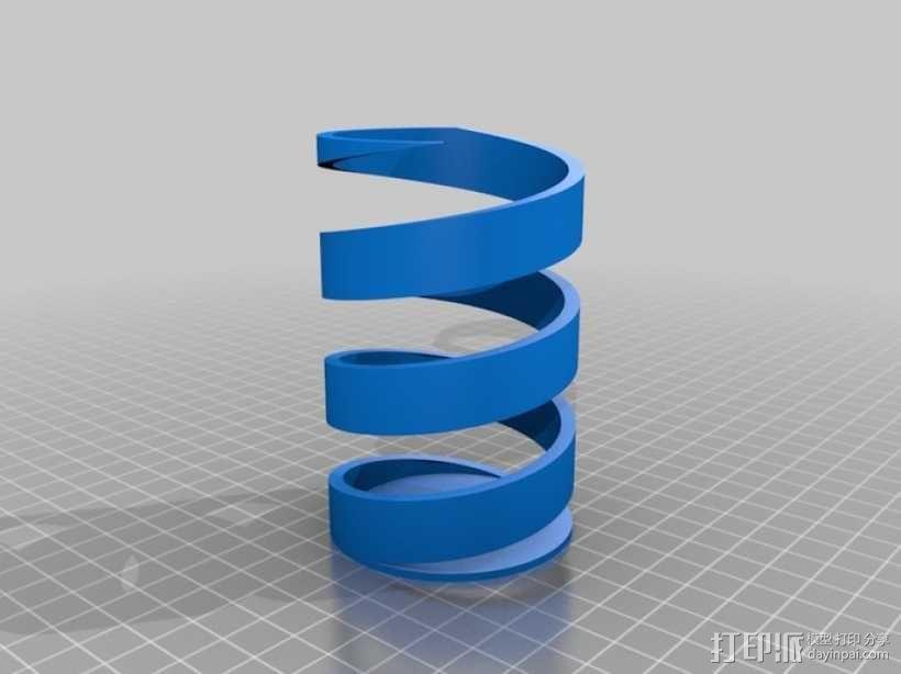 双色笔筒V2 3D模型  图2