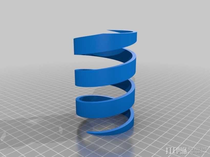 双色笔筒V2 3D模型  图3