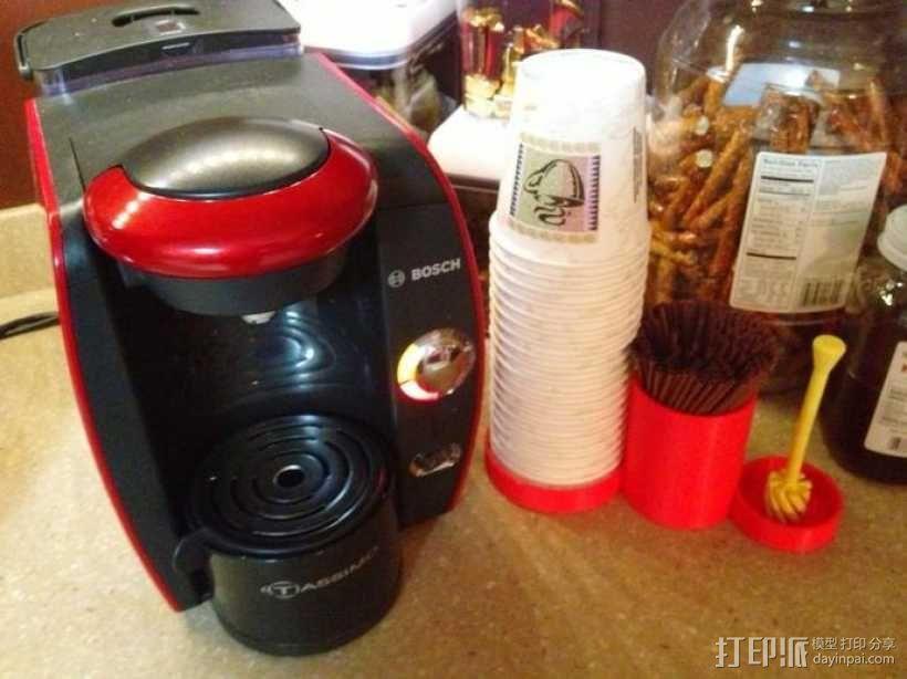 多功能咖啡架 3D模型  图1