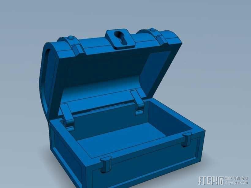 迷你藏宝箱 3D模型  图1