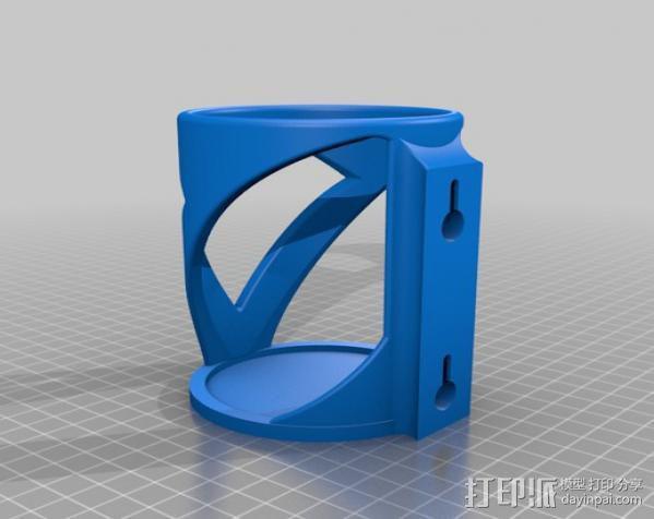 壁挂式饮料架 3D模型  图2