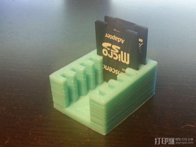 SD卡架 3D模型  图1