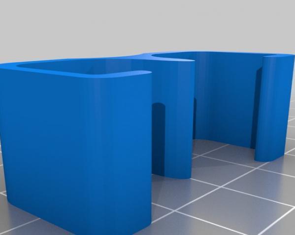 迷你电缆夹 3D模型  图2