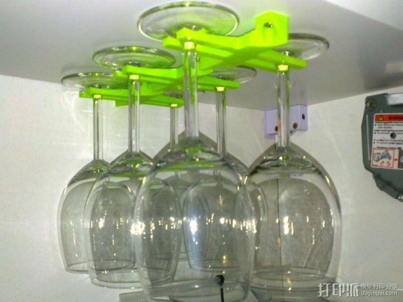 玻璃酒杯架 3D模型  图1