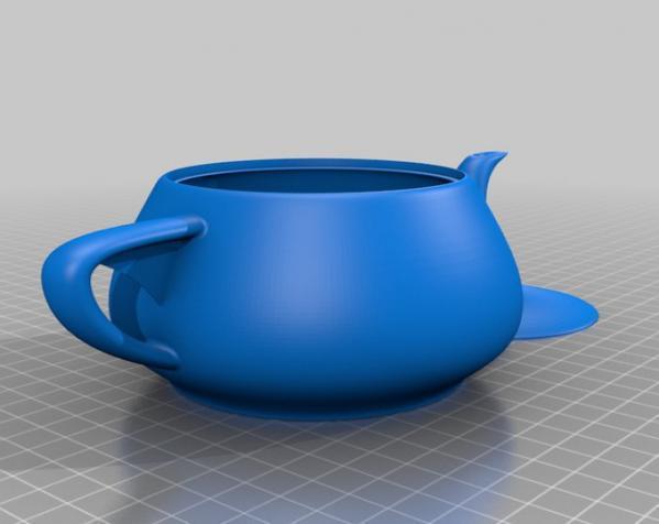 3D打印犹他茶壶 3D模型  图1