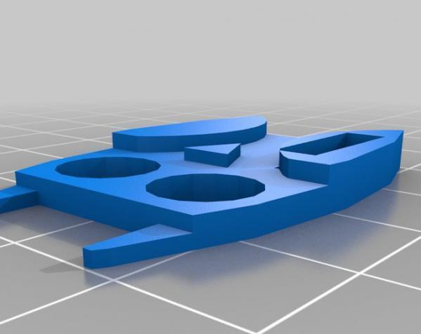 定制化数据线理线器 3D模型  图2