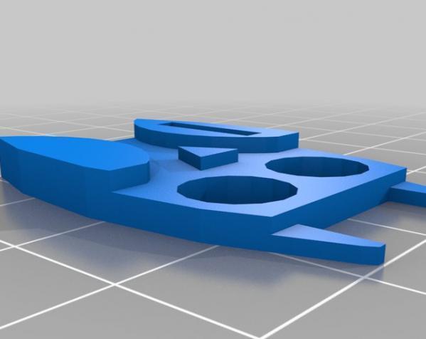 定制化数据线理线器 3D模型  图1
