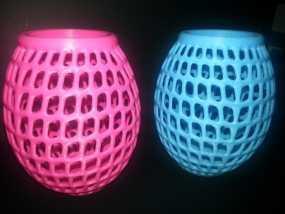 圆形镂空花瓶 3D模型