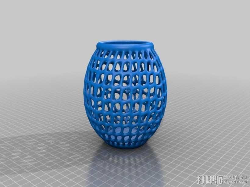 圆形镂空花瓶 3D模型  图5
