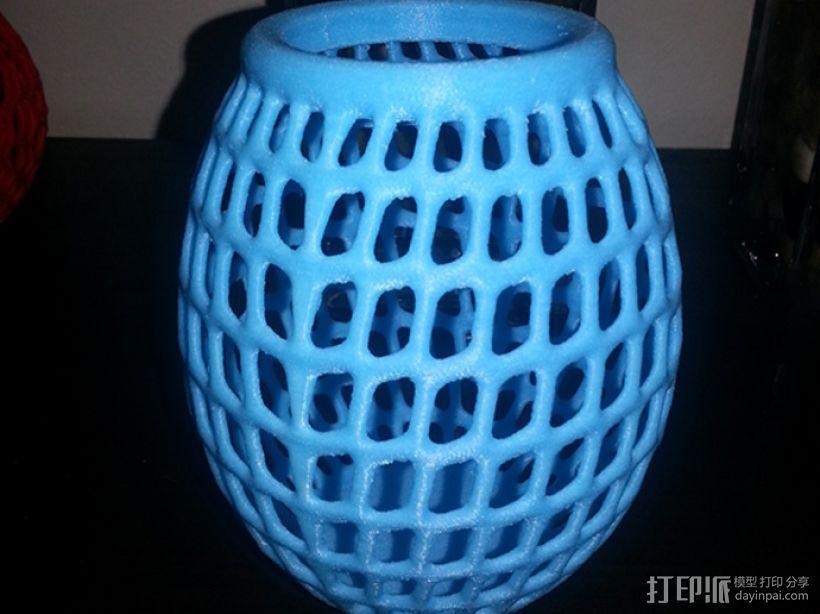 圆形镂空花瓶 3D模型  图4