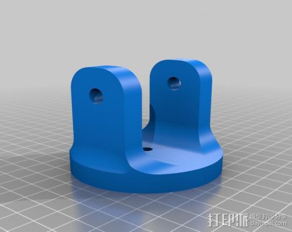 通用壁挂式投影仪挂钩 3D模型  图1