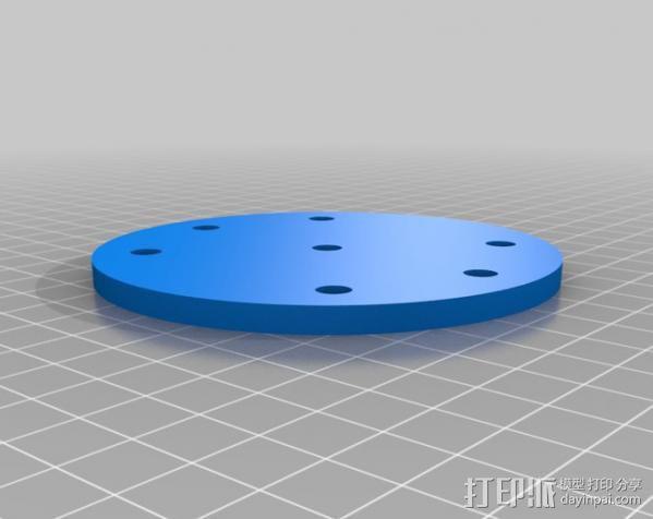 通用壁挂式投影仪挂钩 3D模型  图2