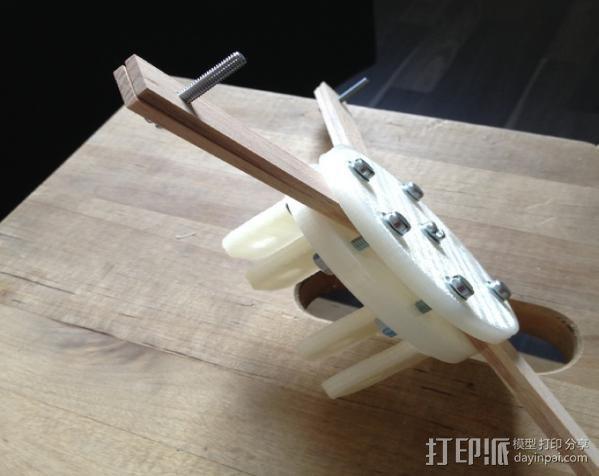 通用壁挂式投影仪挂钩 3D模型  图3