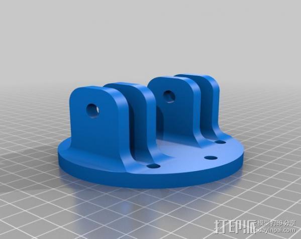通用壁挂式投影仪挂钩 3D模型  图5