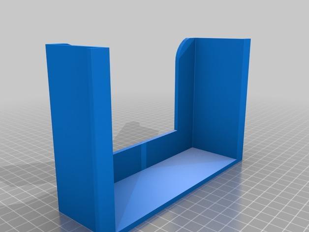 壁挂式湿纸巾架 3D模型  图2
