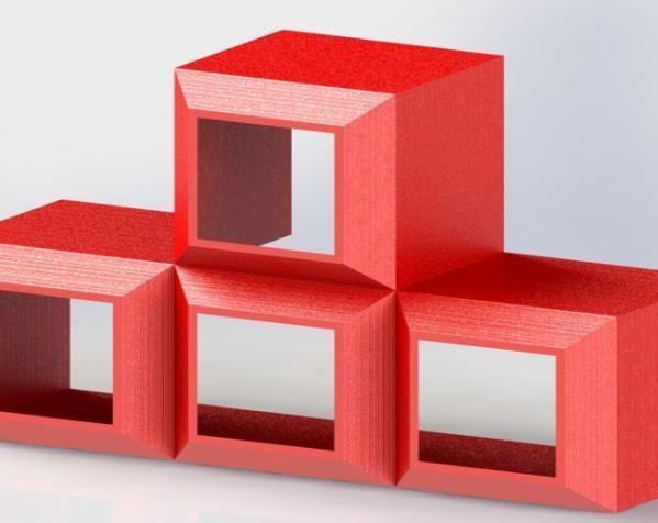 定制模块化俄罗斯方块形架 3D模型  图3