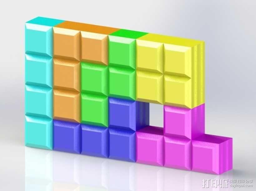 定制模块化俄罗斯方块形架 3D模型  图1