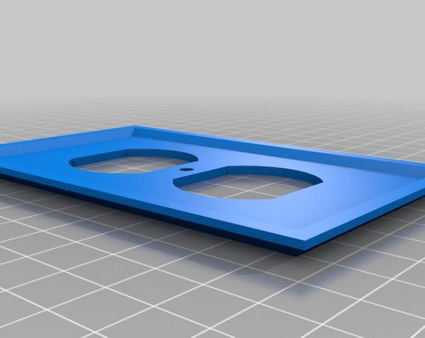 定制化开关板 3D模型  图1