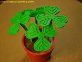 迷你三叶草盆栽 3D模型