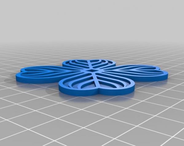 迷你三叶草盆栽 3D模型  图3