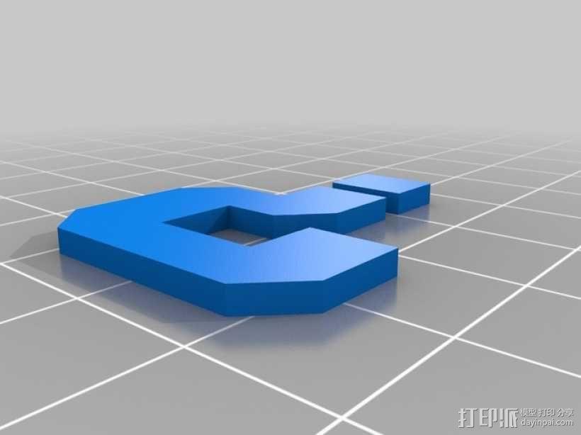 马里奥问号形小酒杯 3D模型  图4