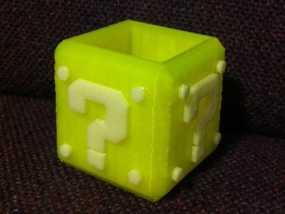 马里奥问号形小酒杯 3D模型